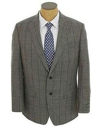 Ralph Lauren New Gray Plaid 2 Button Wool Sport Coat Jacket