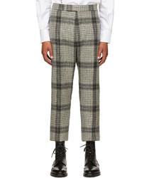 Thom Browne Grey Wool Windowpane Check Back Trousers