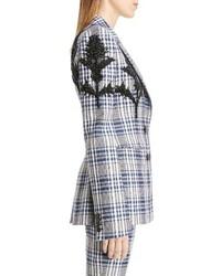 Alexander McQueen Embellished Celtic Check Jacket