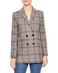 Plaid wool blend jacket medium 5259995