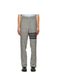 Thom Browne Black And White Houndstooth 4 Bar Trousers