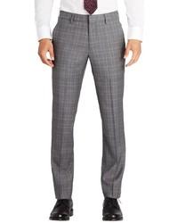 Fashion foundation flat front plaid wool trousers medium 844188
