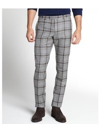 Gucci Grey Plaid Wool Pants