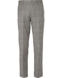 Slim fit glen plaid wool blend suit trousers medium 1402