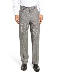 Berle Stretch Plaid Wool Trousers