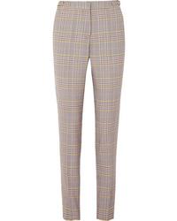 Gabriela Hearst Lisa Plaid Wool Blend Skinny Pants