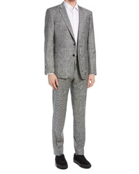 Hugo Hugegenius Slim Fit Glen Plaid Wool Blend Suit