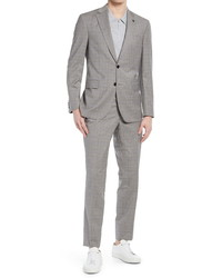 Ted Baker London Jay Slim Fit Plaid Wool Suit