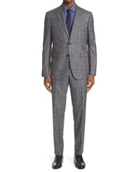 Ermenegildo Zegna Milano Glen Plaid Wool Suit
