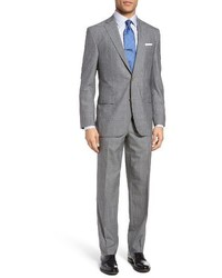 David Donahue Ryan Classic Fit Plaid Wool Suit