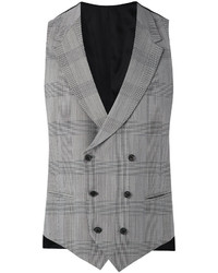 Caruso Plaid Double Breasted Waistcoat