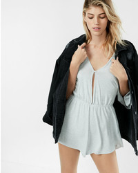 Express One Eleven Long Sleeve Romper