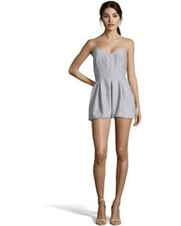 Romeo & Juliet Couture Woven V Neck Romper