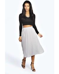 Boohoo Casey Pleated Midi Skirt