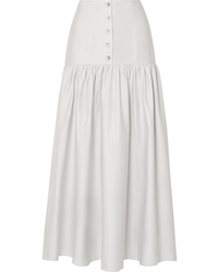 ARIAS Cotton Poplin Midi Skirt
