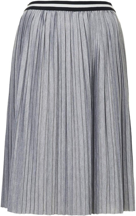 f028423910c ... Topshop Jersey Pleated Sporty Midi Skirt