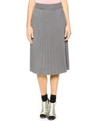 Joa Pleated Midi Skirt