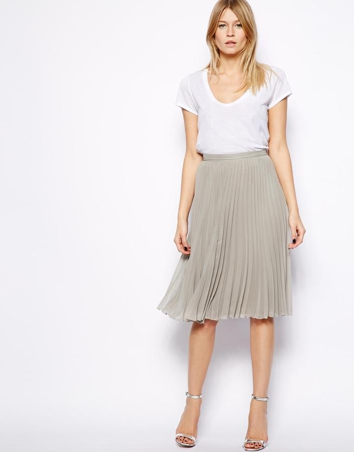 Mango Metallic Midi Skirt   Where to buy & how to wear