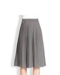Michael Kors Michl Kors Pleated Midi Skirt Banker Melange