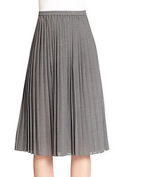 Michael kors pleated midi skirt medium 145354