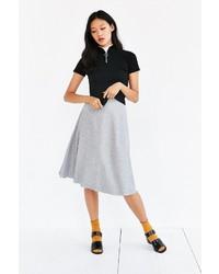 Silence & Noise Silence Noise Raw Hem Midi Skirt