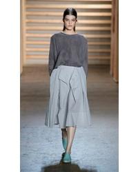 Tibi Riko Eyelet Origami Skirt