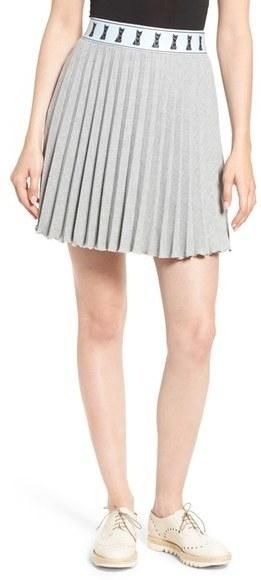c200315d474e ... Grey Pleated Mini Skirts Paul & Joe Sister Cat Pleated Miniskirt ...