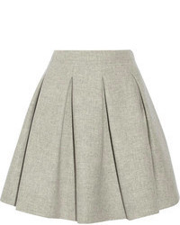 Pleated wool mini skirt medium 65078