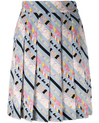 Marc Jacobs Patterned Stripe Pleated Skirt