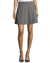 Kate Spade New York Pleated Skirt Miles Gray Melange