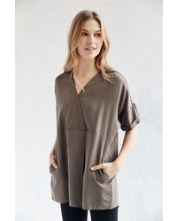 Silence & Noise Silence Noise Pleated Tencel Tunic Top
