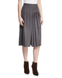 Ralph Lauren Collection Whitney Pleated Stretch Wool Culottes