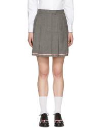 Grey pleated miniskirt medium 3753793