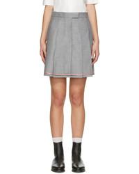 Grey pleated miniskirt medium 779340
