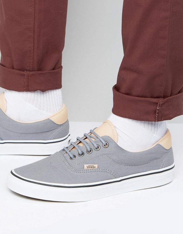 Era 59 Sneakers In Gray Va38fsmn6. Grey Plimsolls by Vans
