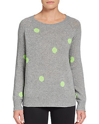 Polka dot cashmere pullover medium 186454