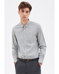 Forever 21 Polka Dot Oxford Shirt