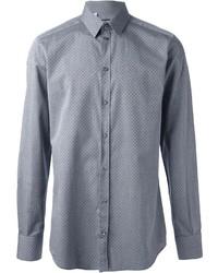 Grey Polka Dot Long Sleeve Shirt