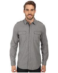 DKNY Jeans Ls Roll Tab Dot Print Shirt W Gart Wash