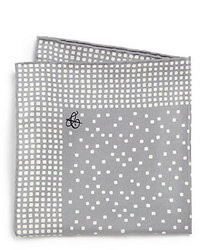 Grey Polka Dot Pocket Square