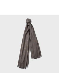 Grey polka dot cotton silk scarf medium 1157660