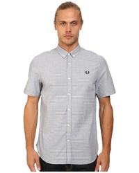 Grey Polka Dot Short Sleeve Shirt