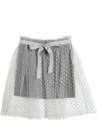 Glittered Tulle Jersey Skirt