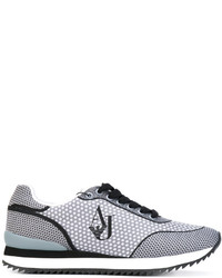 Armani Jeans Dotted Lace Up Sneakers