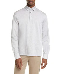 Ermenegildo Zegna Cotton Long Sleeve Polo Shirt