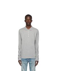 Balmain Grey Long Sleeve Polo