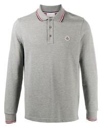 Moncler Logo Patch Stripe Detail Polo Shirt