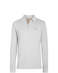 Burberry Long Sleeve Cotton Piqu Polo Shirt