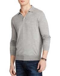 Polo Ralph Lauren Merino Silk Cashmere Regular Fit Polo Sweater
