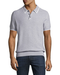 Michael Kors Michl Kors Contrast Tip Cotton Polo Sweater